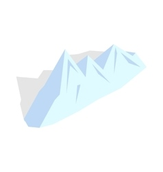 Snowy mountains icon isometric 3d style vector image vector image
