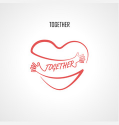 together typographical design elements vector image vector image