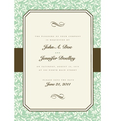 vintage invitations vector image vector image