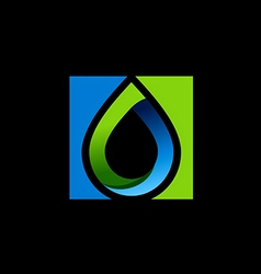 water drop bio ecology logo vector image