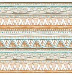 Seamless colorful aztec pattern orange Ethnic vector image