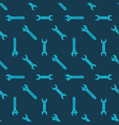 wrench seamless pattern vector image
