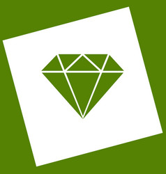 Diamond sign   white icon vector