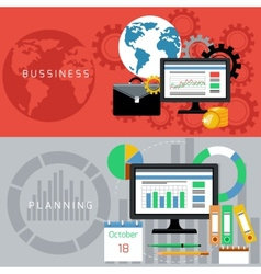 Business and planning cards vector image