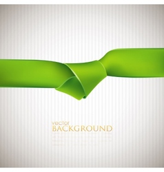 Abstract background with green ribbon vector