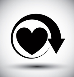 Heart conceptual simple single color icon vector