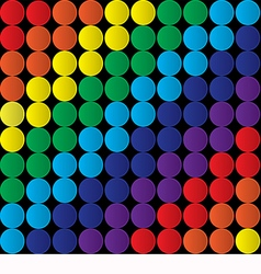 Abstract background with colored circles vector