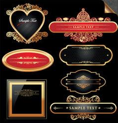 decorative ornate golden frames vector image