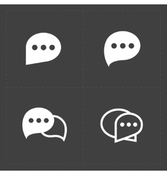 New speech bubble icons on black background vector