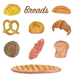 Bread and bakery vector