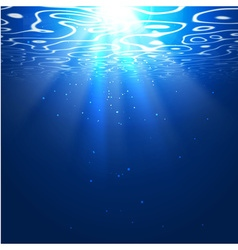 Underwater background with sun rays editable vector
