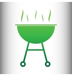 Barbecue simple icon vector