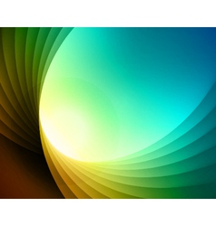 Colorful smooth light lines background vector image