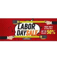Labor day sale 50 percent 6250x2500 pixel banner vector