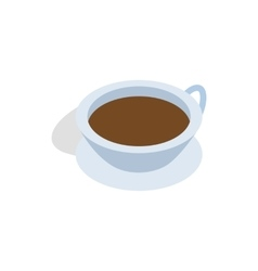 Cup of tea icon isometric 3d style vector