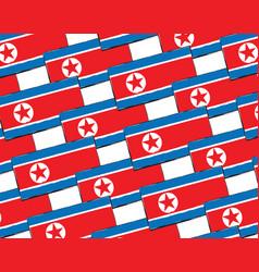 Abstract north korea flag or banner vector