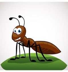 Ant cartoon character vector