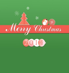 Bright Christmas card vector image