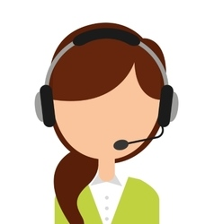 Call center employee isolated icon design vector