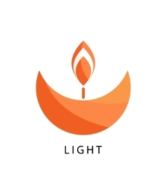 Candle logo template stylized religion and vector