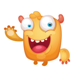 cartoon cute monster vector image vector image