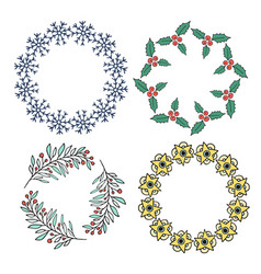 cute new year decorative frame set for banners vector image vector image