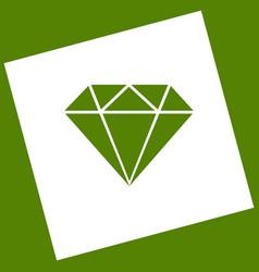 Diamond sign white icon vector