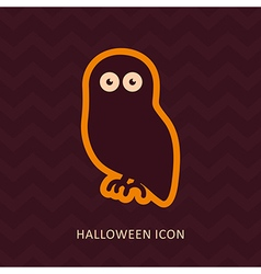 Halloween owl silhouette icon vector