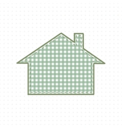 House of Fabric Handmade work Cute Baby Style vector image