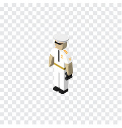 Isolated sailor isometric seaman element vector