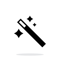 Magician wand icon vector image vector image