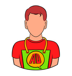 Man in uniform icon cartoon vector