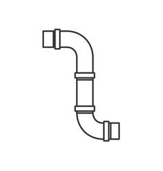 Monochrome silhouette of drain pipe vector