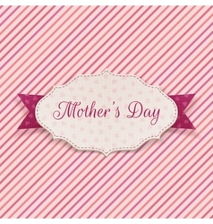 Mothers day festive label vector