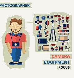 Profession of people Flat infographic Photographer vector image vector image