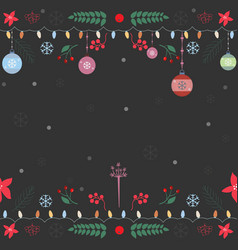 seamless pattern with ornaments garland vector image vector image