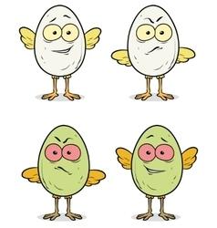 Set of cartoon cute little eggs vector image vector image