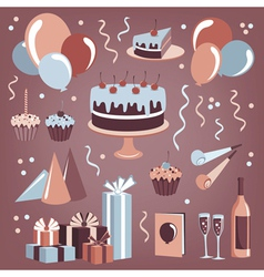 Set of celebration design elements vector