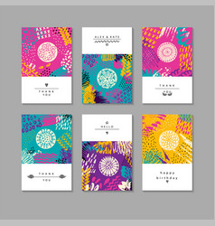 set of creative business card template and flyers vector image vector image
