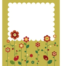 springtime flowers vector image vector image