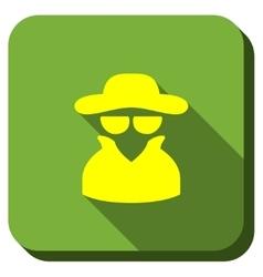 Spy longshadow icon vector