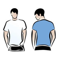 t-shirts vector image vector image