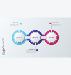 Three steps infographic process chart 3 options vector