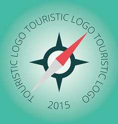 Tourism logotype stamp compass vector image vector image