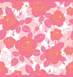 vintage pink and yellow gold roses and vector image vector image