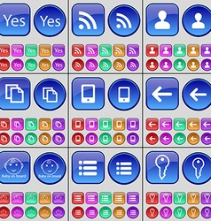 Yes rss avatar copy mobile phone arrow left baby vector