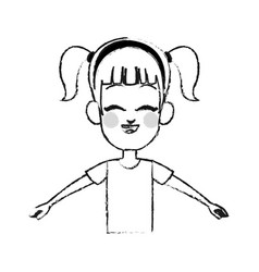 Young girl icon image vector