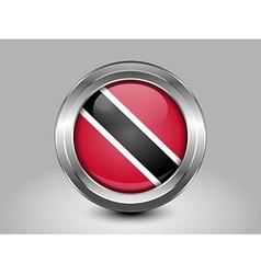 Flag of trinidad and tobago metal round icon vector