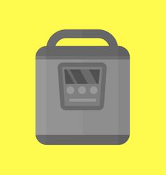Modern multi cooker household utensil metallic pan vector