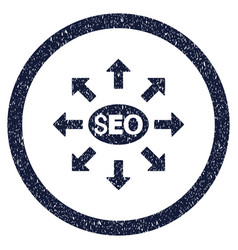 Seo distribution rounded grainy icon vector